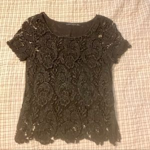 Zara Lace Black Shirt